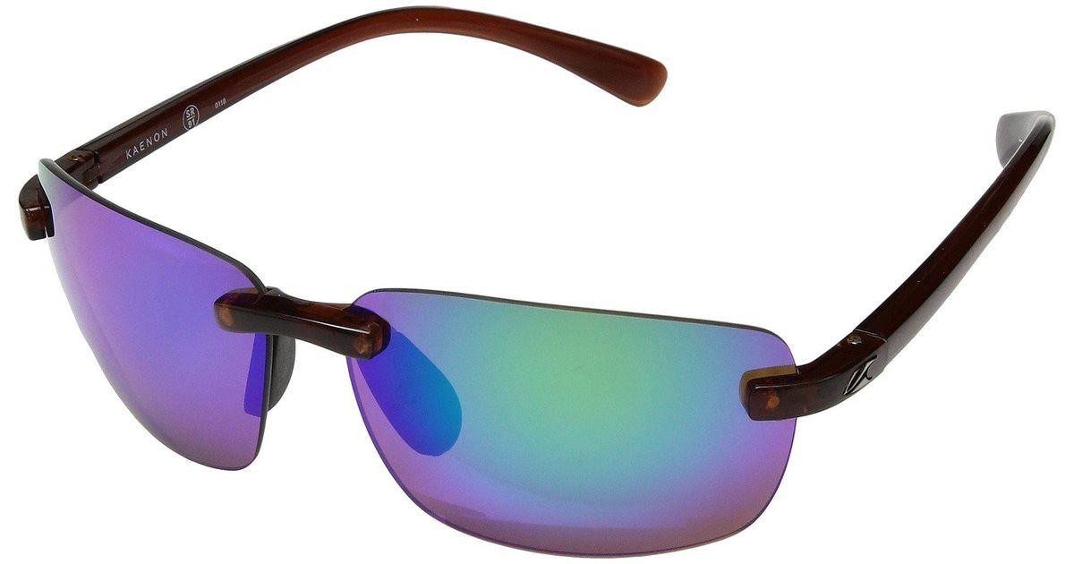 4aead0d32702 Lyst - Kaenon Coto (deep Brown Coastal Green Mirror) Athletic Performance  Sport Sunglasses for Men