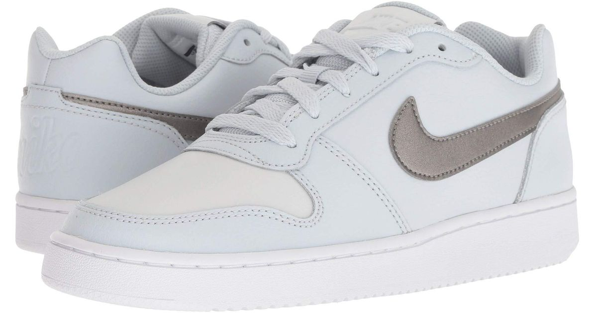 574b0d05ffb Lyst - Nike Ebernon Low (black black white) Women s Shoes in White