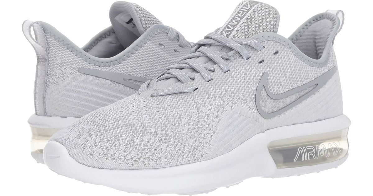 1e1478cb7464 Lyst - Nike Air Max Sequent 4 (black black white) Women s Running Shoes in  White