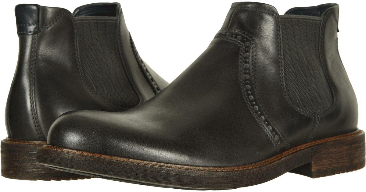 efbadccf Ecco Black Kenton Ankle Boot (moonless) Men's Dress Pull-on Boots for men