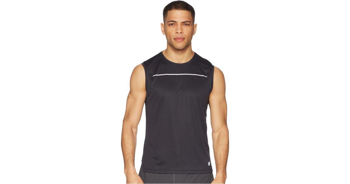 b7caa838f108f Lyst - Asics Lite-show Sleeveless Shirt in Black for Men