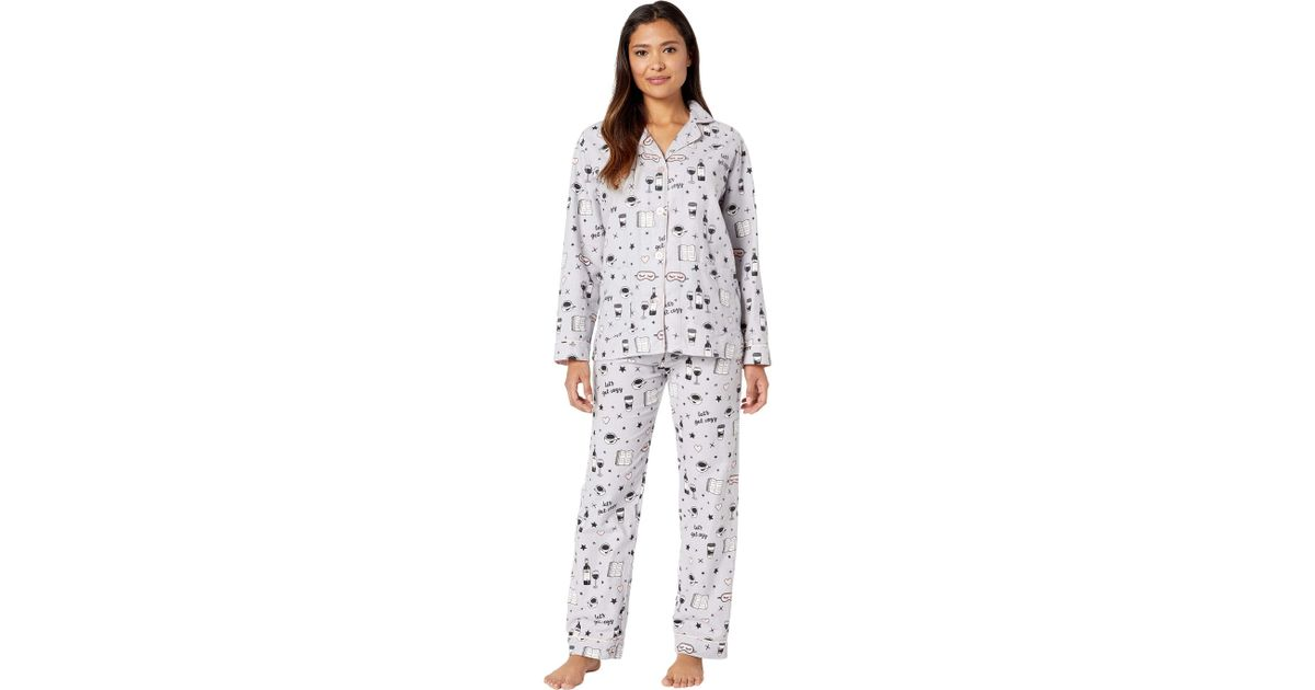678cb25b3463 Lyst - Pj Salvage Let s Get Cozy Pj Set in Gray - Save 9%