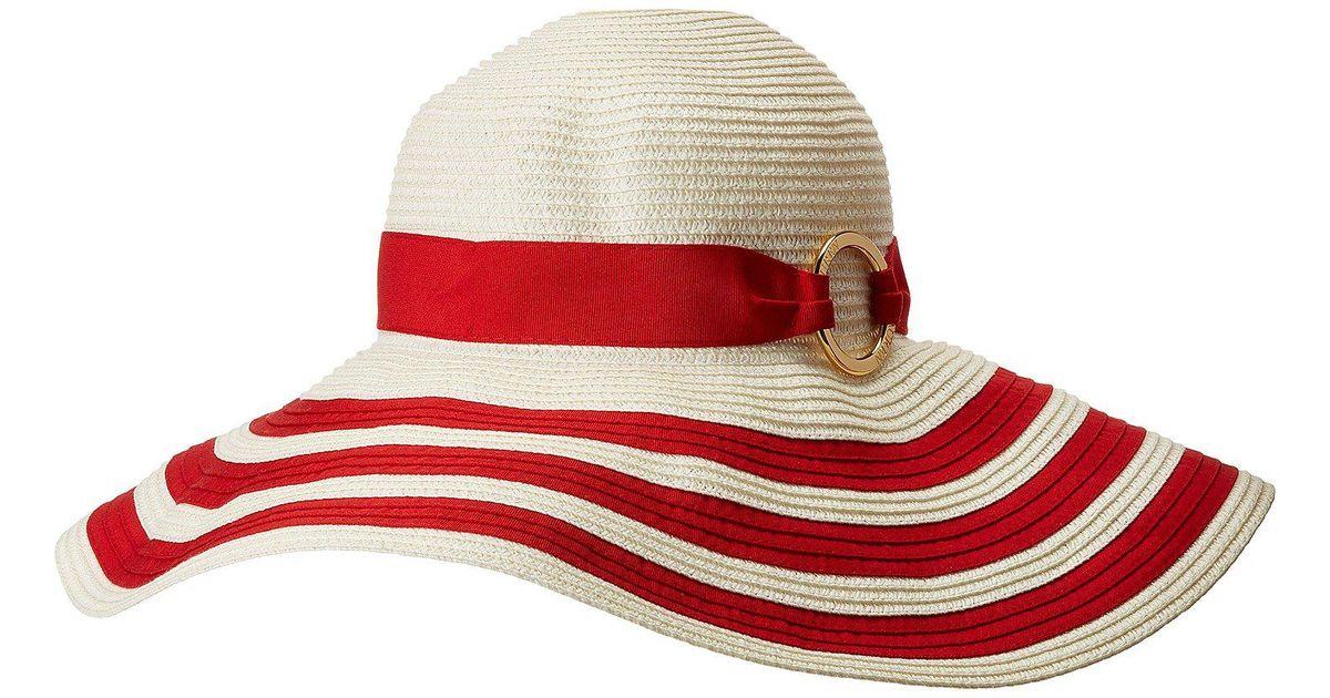 Lyst - Lauren by Ralph Lauren Packable Signature Grosgrain Sun Hat (natural  cream) Caps in Red 557e9ee83fbb