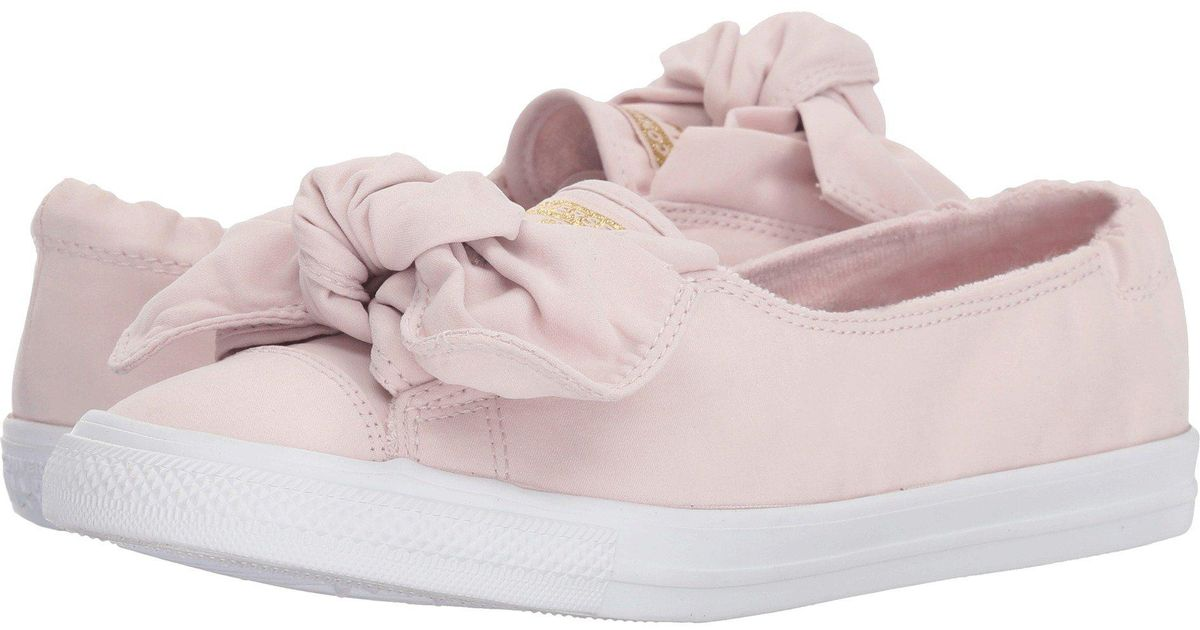 6eea049c6a30 Lyst - Converse Chuck Taylor® All Star® Knot Slip in Pink