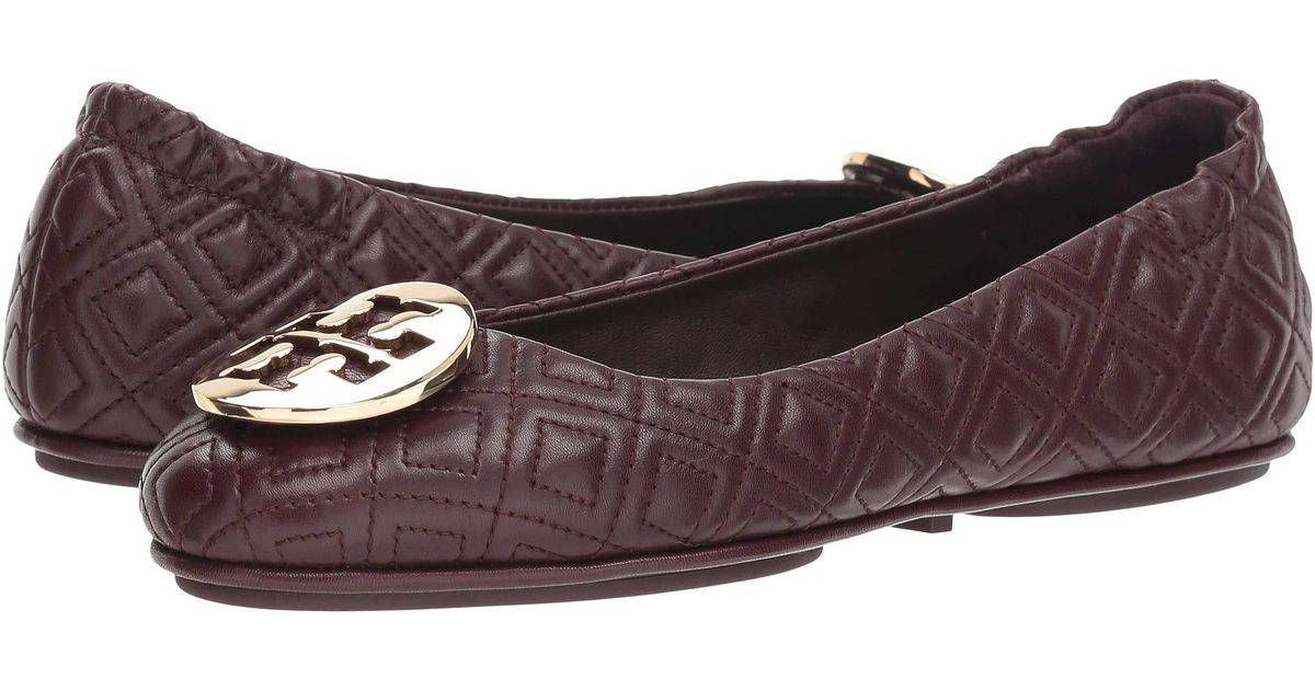 8f98112cdf64 Lyst - Tory Burch Quilted Minnie Ballet