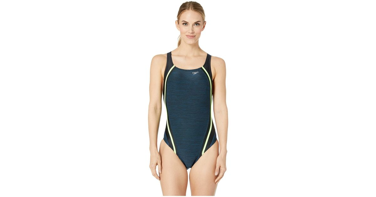 b76e09545b Speedo Heather Quantum Splice One-piece (deep Teal) Women's Swimsuits One  Piece in Blue - Lyst