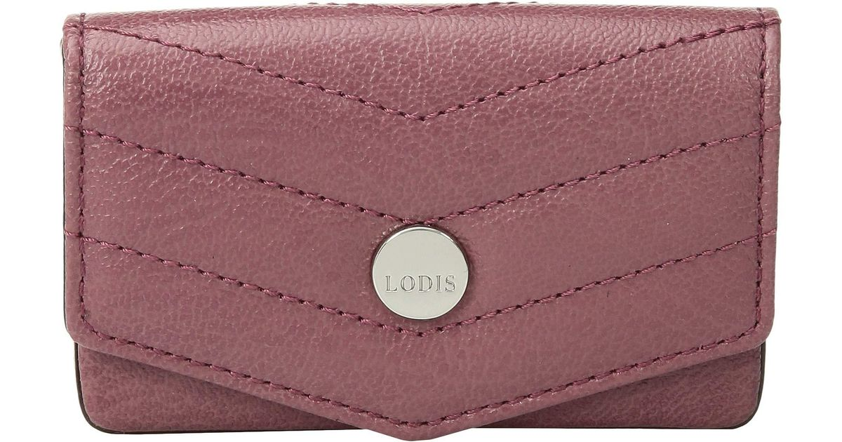 best loved 36048 10f08 Lodis - Purple Carmel Maya Card Case (black) Credit Card Wallet - Lyst