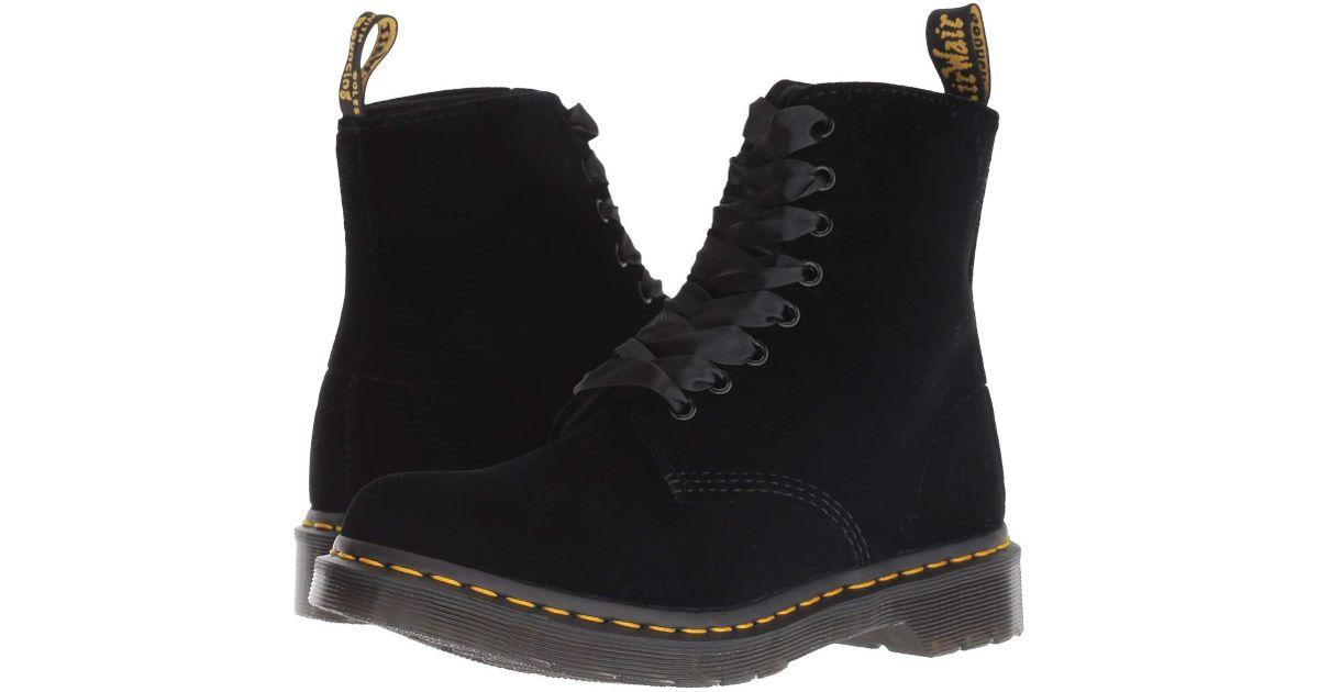 Dr. Martens 1460 Pascal Velvet (black Velvet) Women's Boots