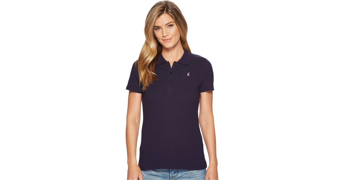 e4d2fe56 Lyst - Joules Pippa Plain Polo Shirt (french Navy) Women's Clothing in Blue