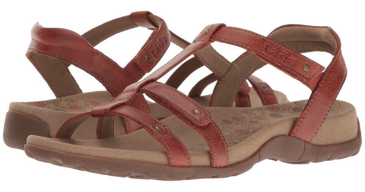 b54595ddb3cea9 Lyst - Taos Footwear Trophy (black) Women s Sandals in Brown
