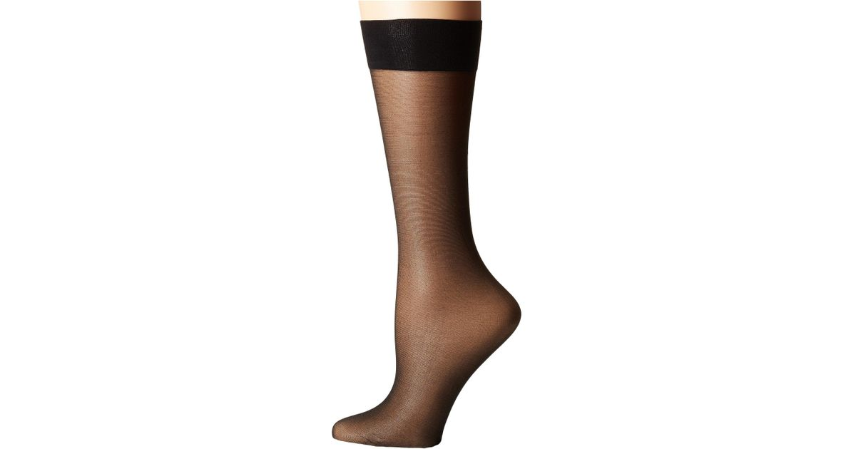 0284d9f5544 Lyst - Natori Silky Sheer All Day Comfort (black) Hose in Black
