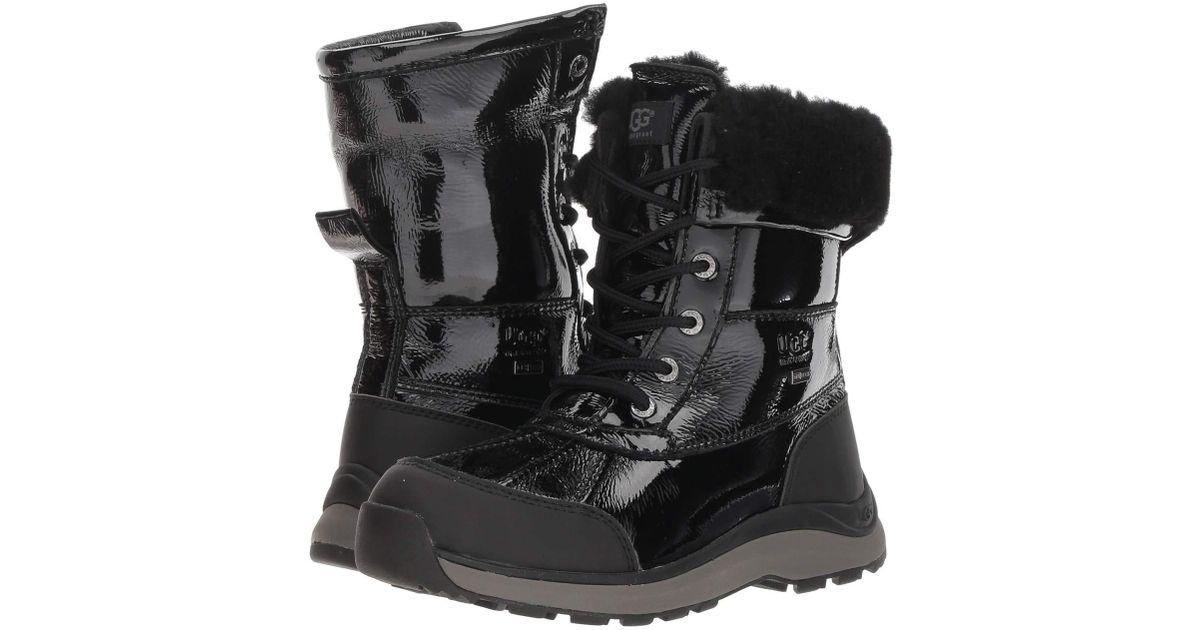 adee7db853f Ugg Adirondack Patent Boot Iii (black) Women's Cold Weather Boots
