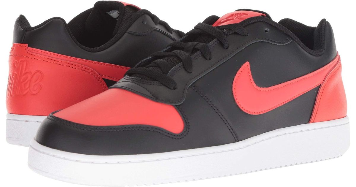 228d5777d6 Lyst - Nike Ebernon Low (wolf Grey black white) Men s Shoes in Red for Men