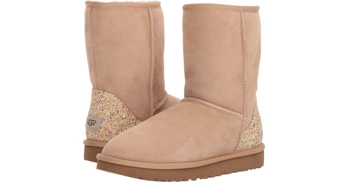 636d6366bd8 Ugg Multicolor Classic Short Glitter (driftwood) Women's Boots