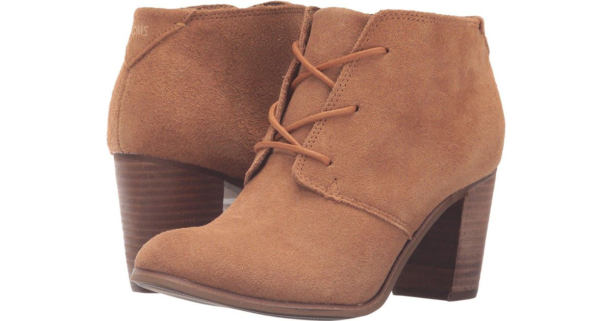 6bf86bdcb Lyst - TOMS Lunata Lace-up Bootie (wheat Suede) Women's Lace-up Boots
