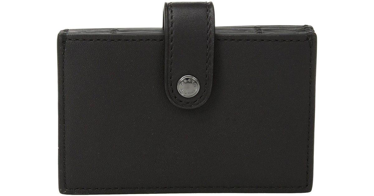 ecfed49e2119 Lyst - COACH Color Block Accordion Card Case (dk black Multi) Wallet in  Black