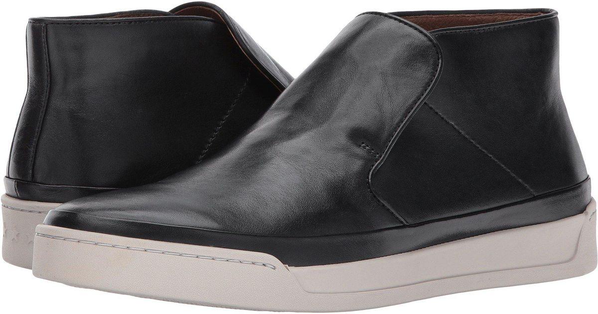 2daaea6f017 Lyst - John Varvatos Remy Mid (mineral Black) Men s Slip On Shoes in Black  for Men