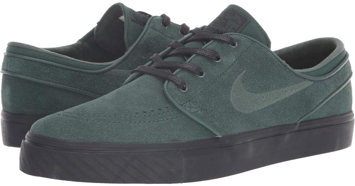 a7de1a902dc3 Lyst - Nike Zoom Stefan Janoski – Suede in Green for Men - Save 18%