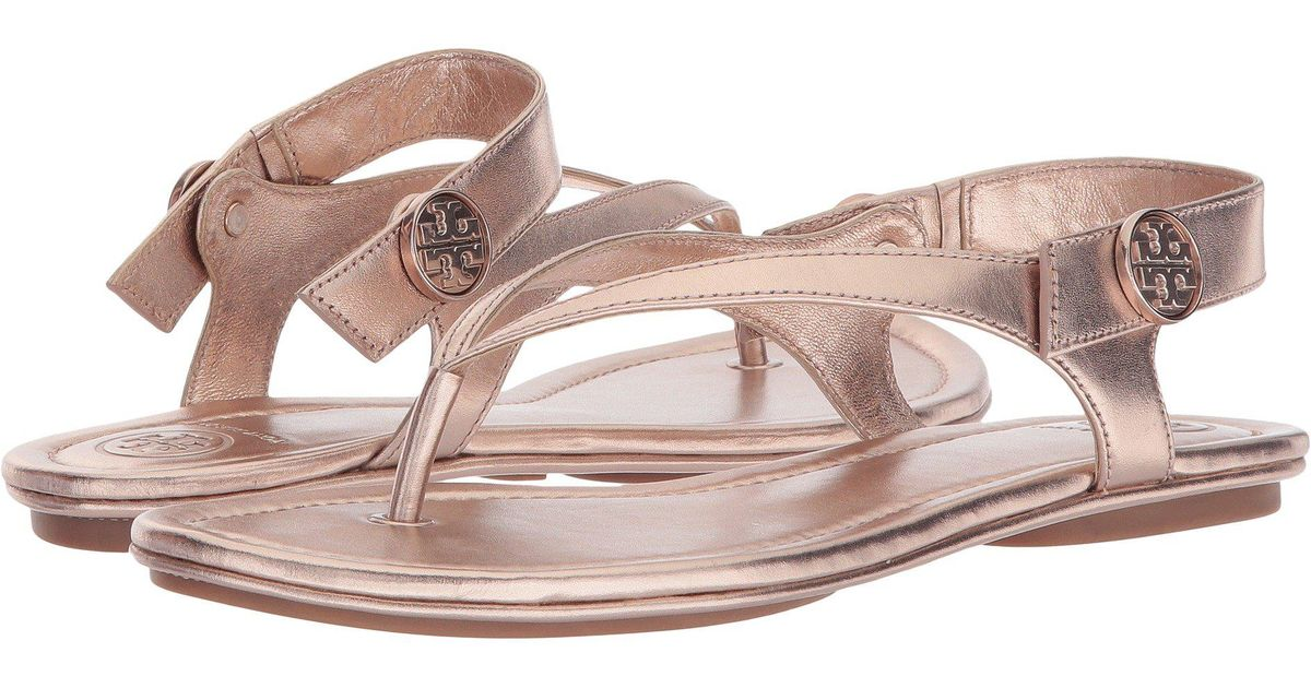 9358649e335 Lyst - Tory Burch Minnie Travel Sandal in Pink