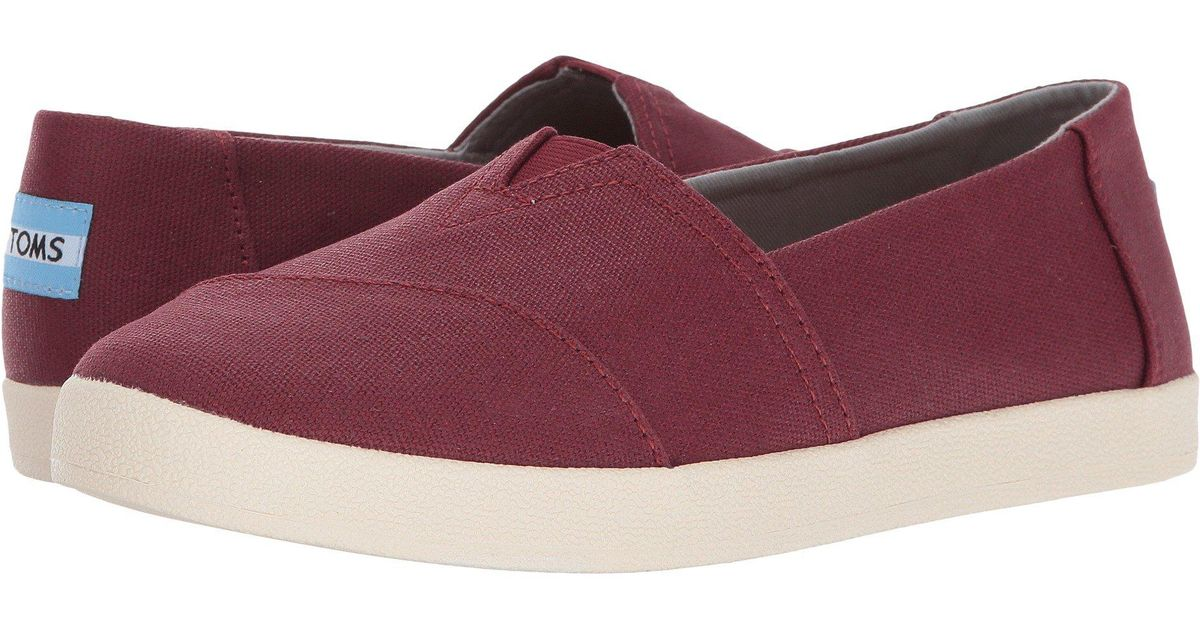 Lyst - TOMS Avalon Slip-on in Red 4d66a70185
