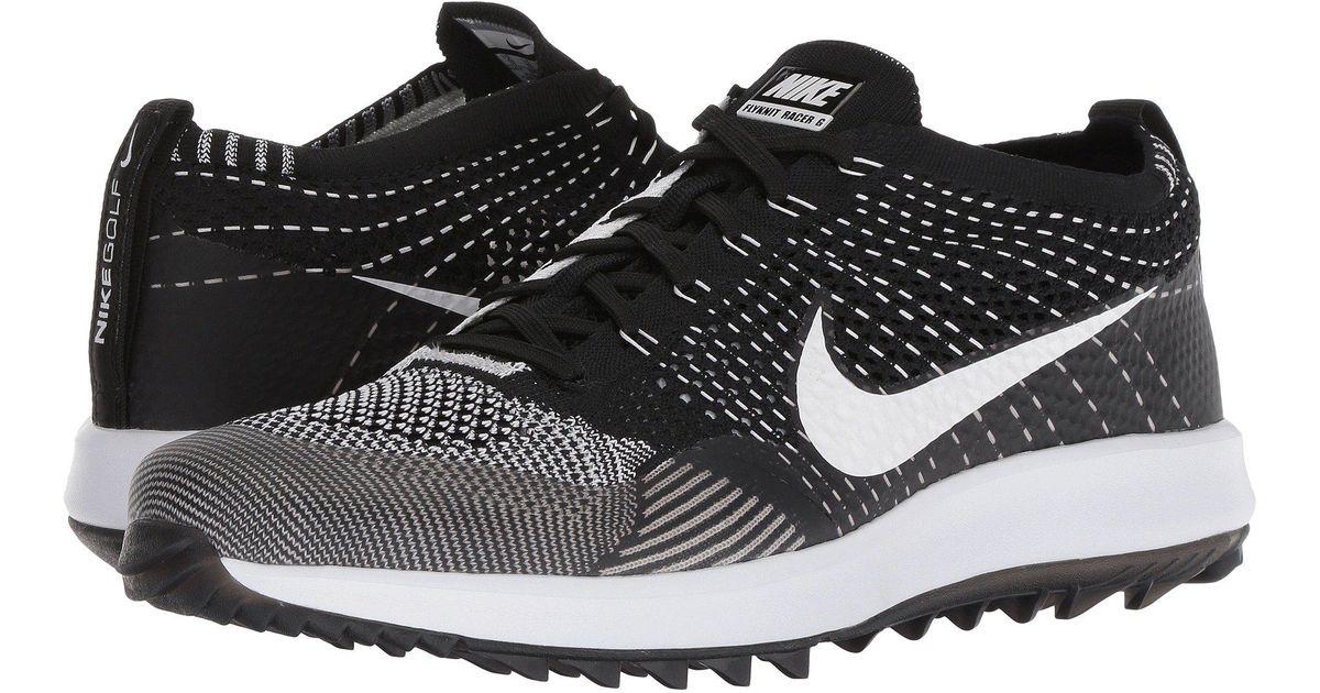3f0c1b658390 Lyst - Nike Flyknit Racer G in Black for Men - Save 4%
