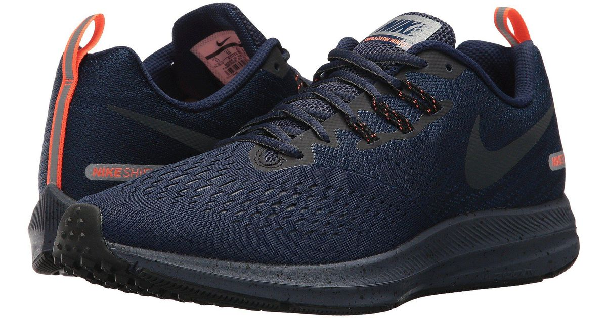 sneakers for cheap 5c002 150c2 Nike Blue Air Zoom Winflo 4 Shield for men