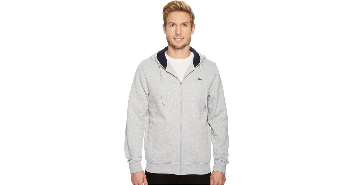de4918fd62c8a Lyst - Lacoste Sport Full Zip Hoodie Fleece Sweatshirt in Blue for Men -  Save 13%