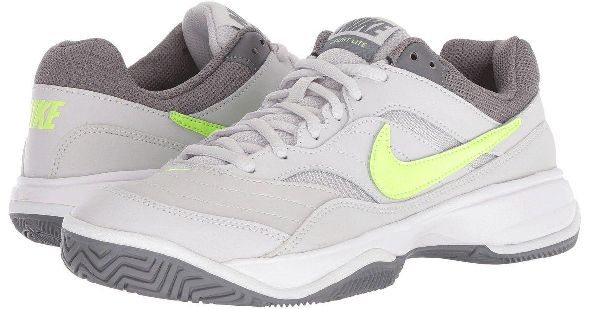 397473bd Lyst - Nike Court Lite (white/medium Grey/matte Silver) Women's Tennis Shoes  in Gray