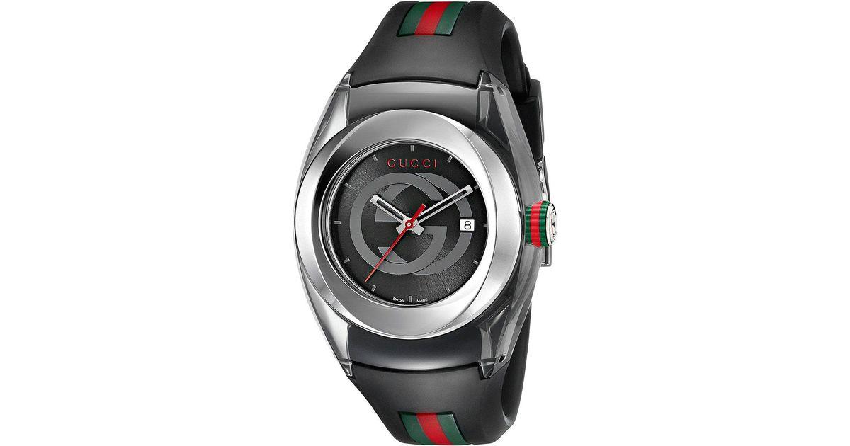 63327c9669f Lyst - Gucci Sync Lg-ya137301 in Black for Men