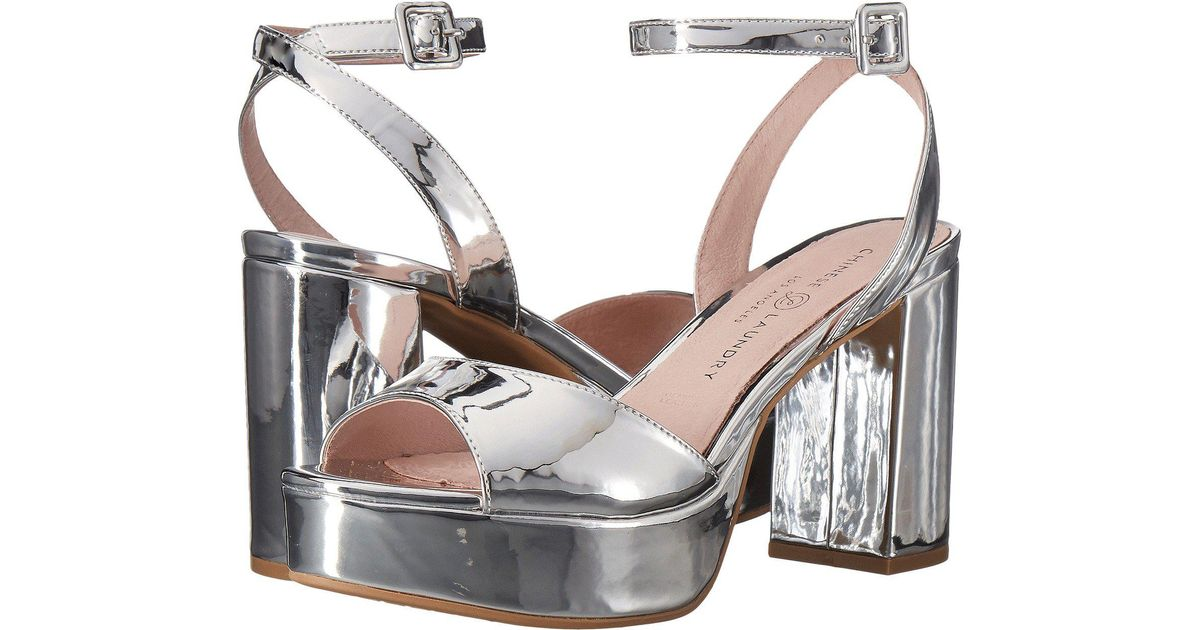 Lyst - Chinese Laundry Theresa (silver Mirror) High Heels d4a8dd273f59