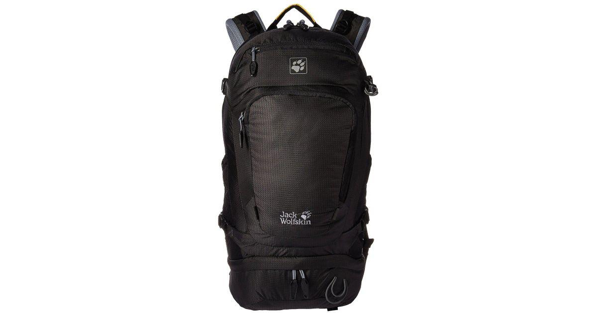 6bd5452c05 Jack Wolfskin Satellite 24 Pack (poseidon Blue) Backpack Bags in Black for  Men - Lyst