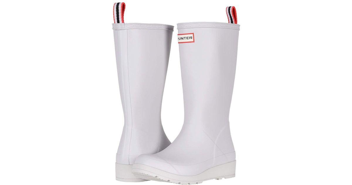 30023a4f844 Hunter White Original Play Boot Tall Rain Boots (light House) Women's Rain  Boots