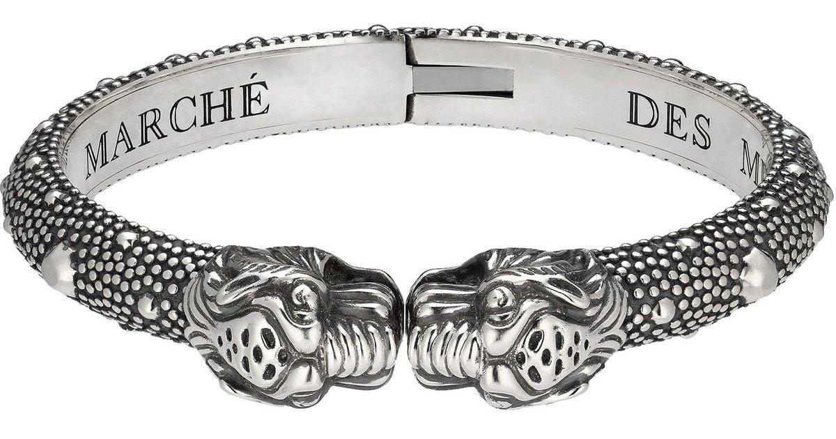 0d042d517 Gucci Vintage Tiger Bracelet in Metallic for Men - Lyst