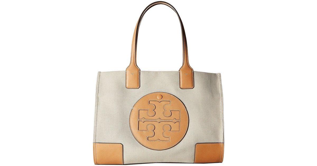 a8c16dce80 Tory Burch Ella Canvas Tote (natural) Handbags - Lyst