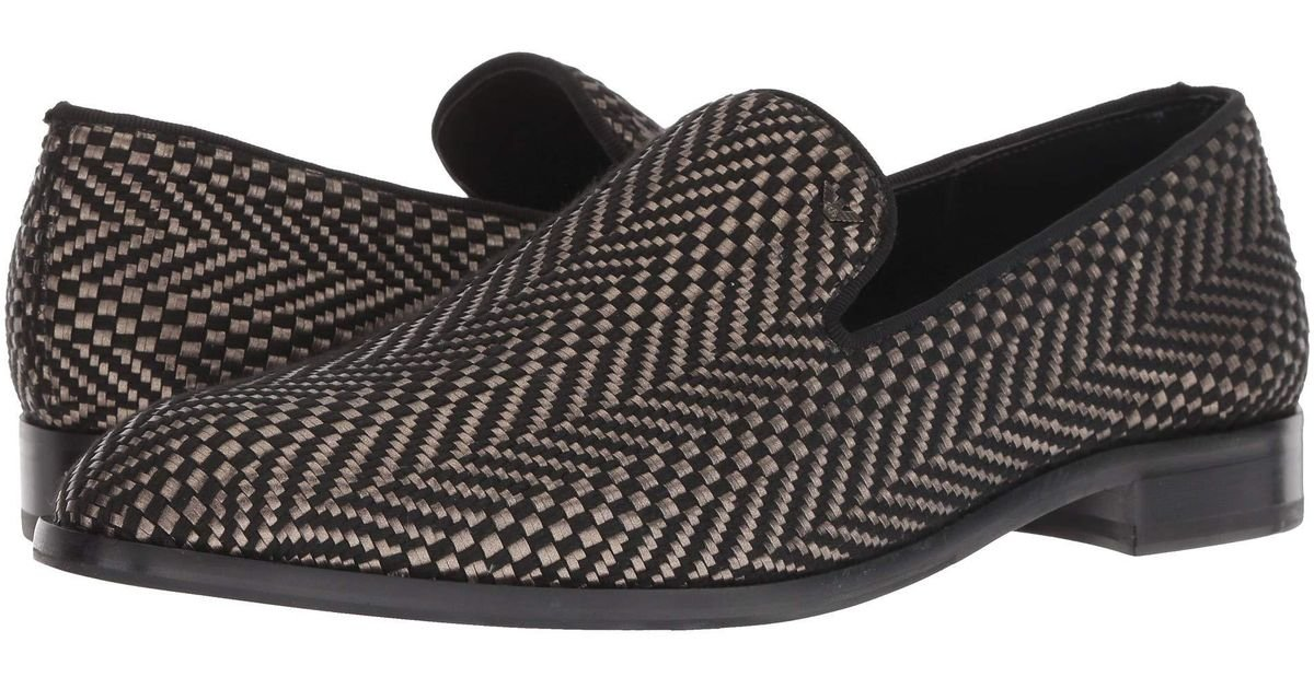 96f9c1925f Emporio Armani Indios Fabric Loafer (black) Slip On Shoes for men