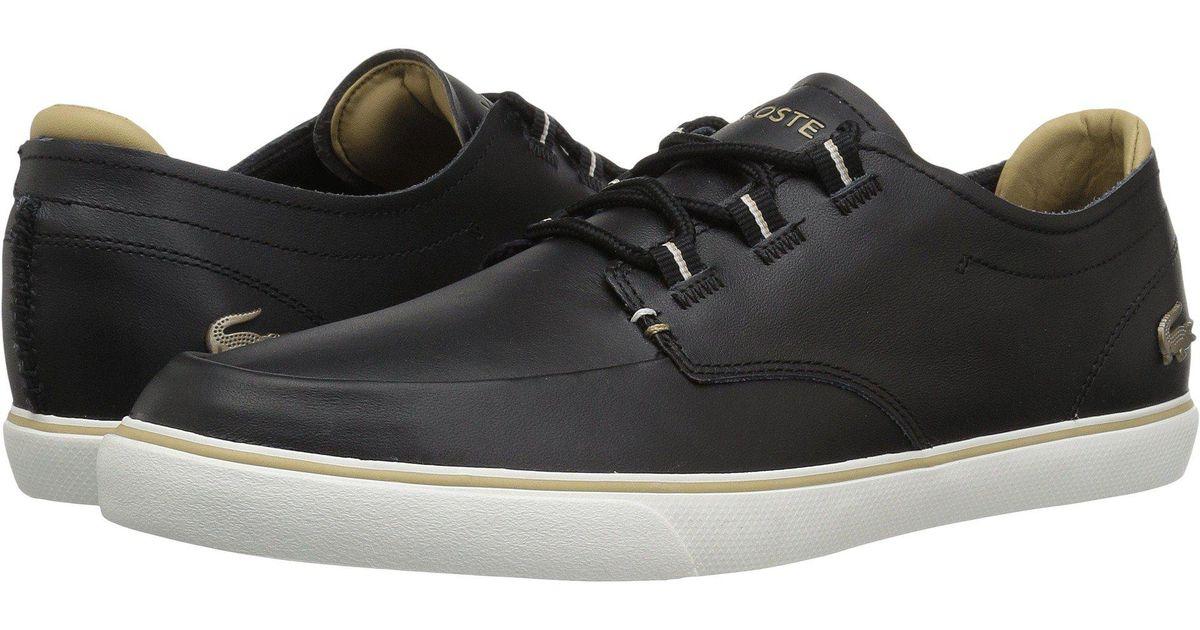 fea077c59a86 Lyst - Lacoste Esparre Deck 118 3 (black light Tan) Men s Shoes in Black  for Men