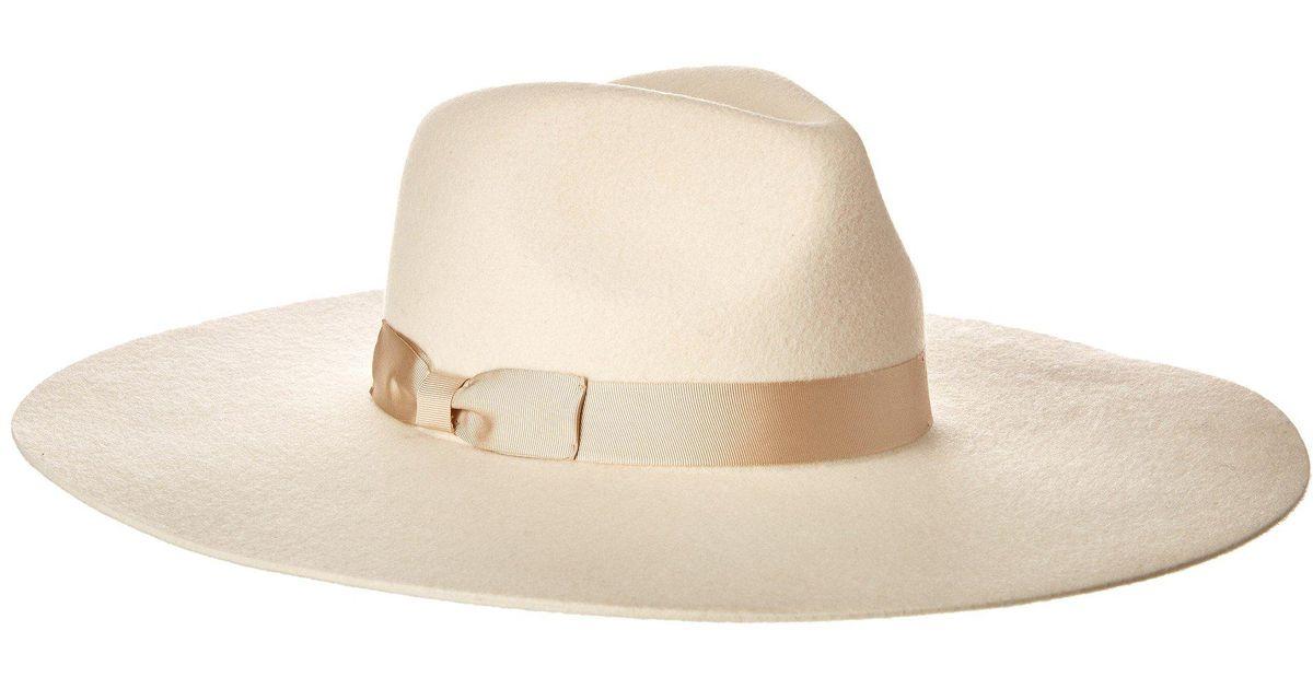 9214f0e05 Lack of Color White Montana Ivory Bone Wool Wide Brim Felt Fedora
