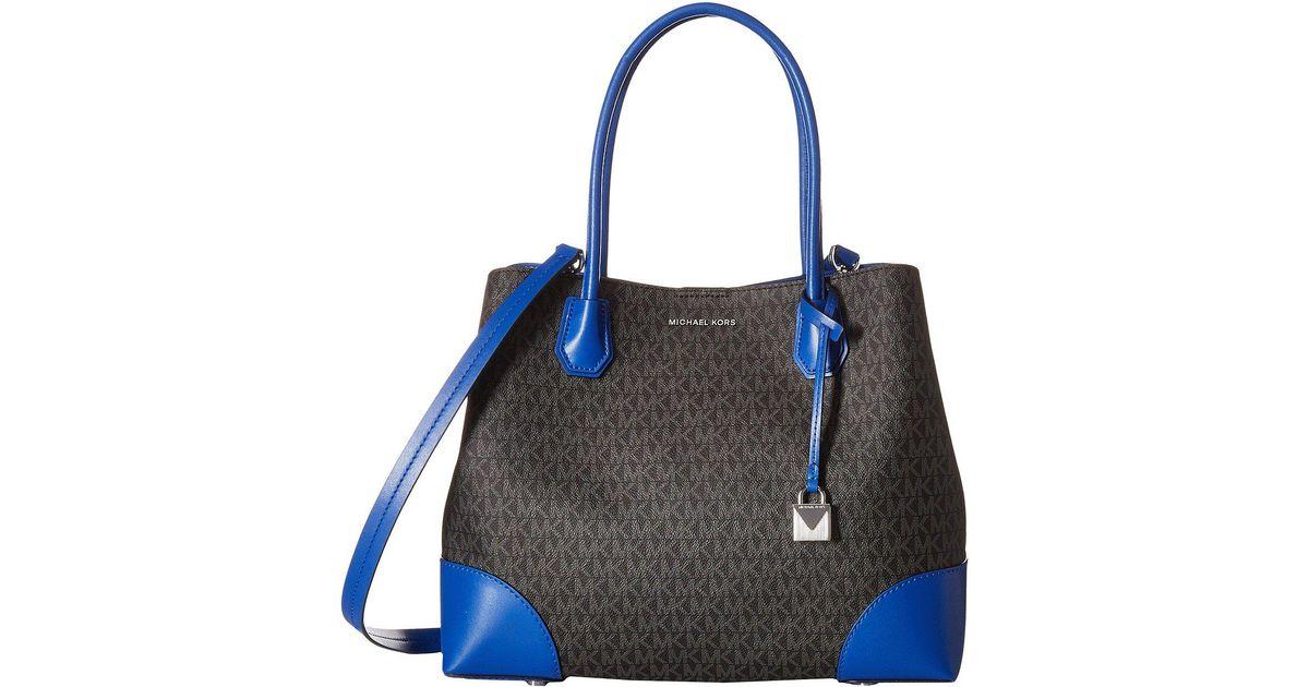 Michael Kors Mercer Gallery Medium Center Zip Tote (Pale Blue) Tote Handbags y3hCTiHj7