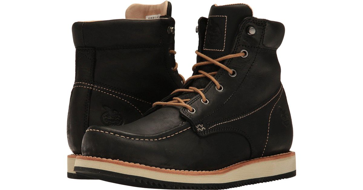 483a8a4ced3 Georgia Boot Black Small Batch 6 Moc Toe Wedge for men