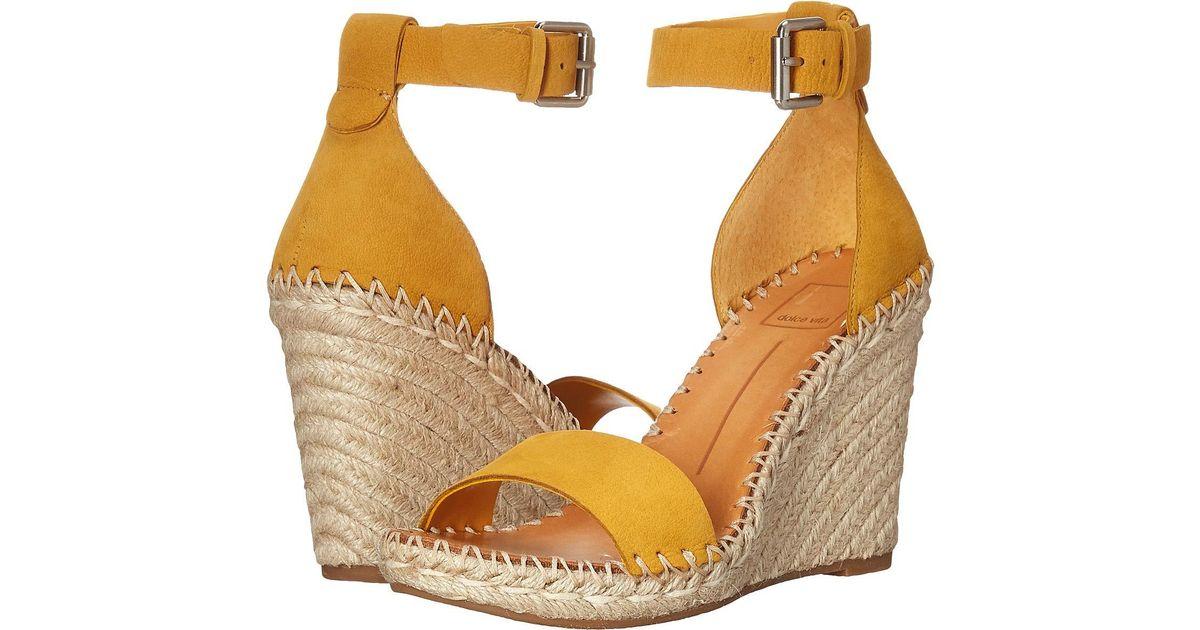 6767c32ef315 Lyst - Dolce Vita Noor (black Leather) Women s Wedge Shoes