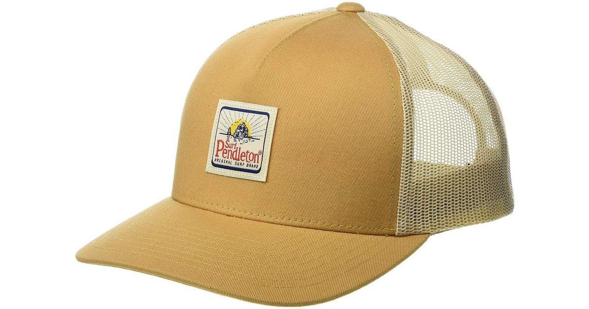 Lyst - Pendleton Surf Trucker Hat (curry) Baseball Caps for Men 0247b1660f1