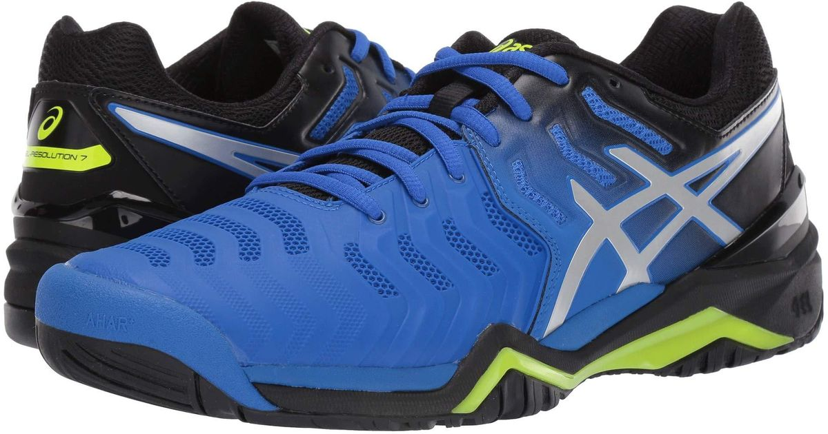 79a96fc91ee546 Asics Gel-resolution 7 (illusion Blue/silver) Men's Tennis Shoes in Blue  for Men - Lyst