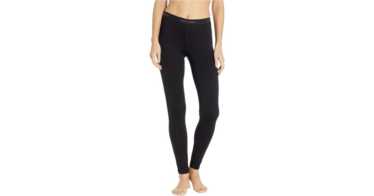 9416fc38533 Lyst - Icebreaker 200 Oasis Merino Base Layer Leggings (black) Women's  Casual Pants in Black - Save 11%