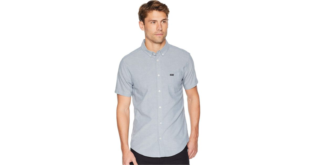 RVCA Boys Big Barrow Short Sleeve Woven Shirt