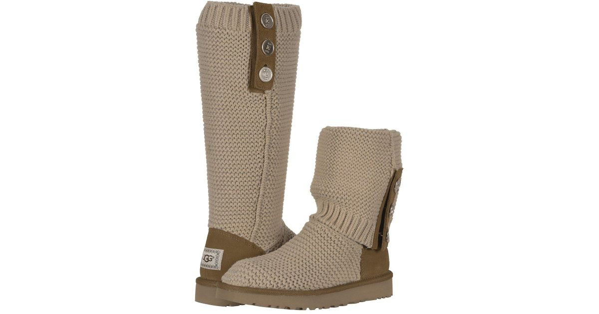 82746179d4e Ugg Natural Purl Cardy Knit (black) Women's Pull-on Boots