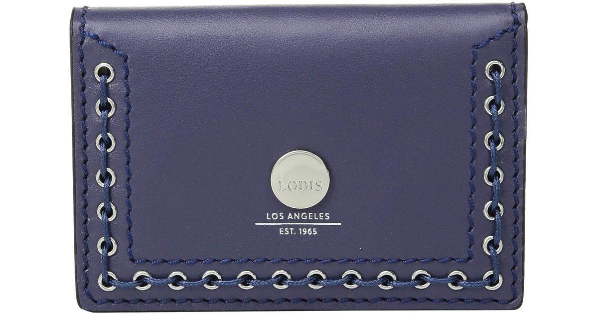 the best attitude 23914 90896 Lodis - Blue Saratoga Mirror Card Case (black) Credit Card Wallet - Lyst