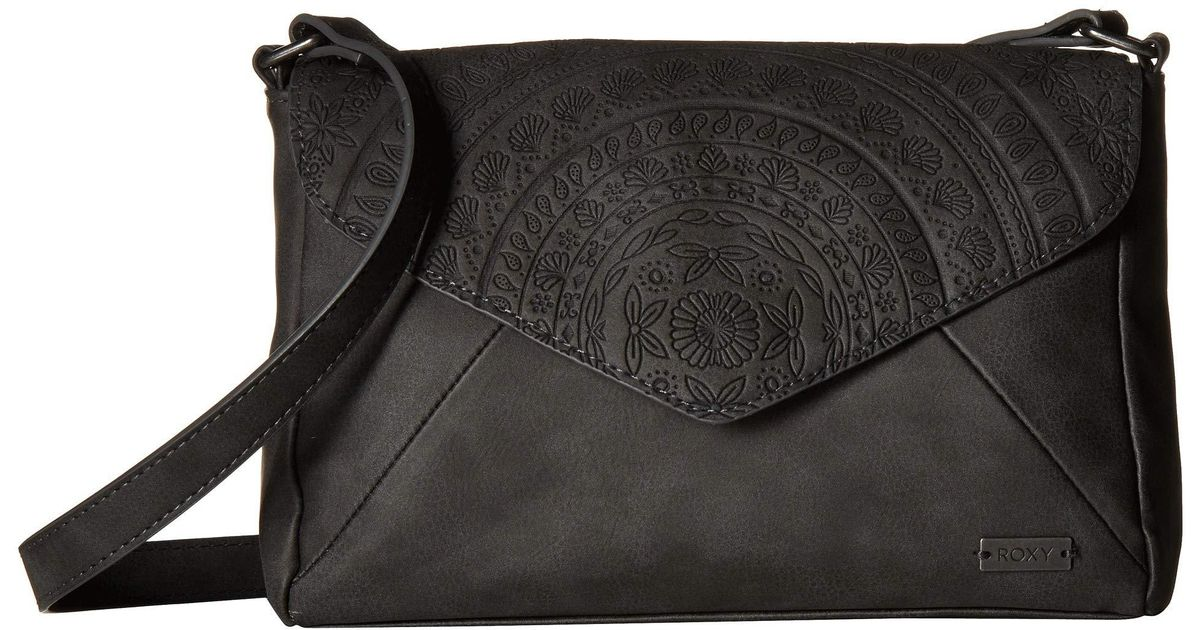 c9ead29bc04 Roxy Sunset Road Crossbody (true Black) Cross Body Handbags