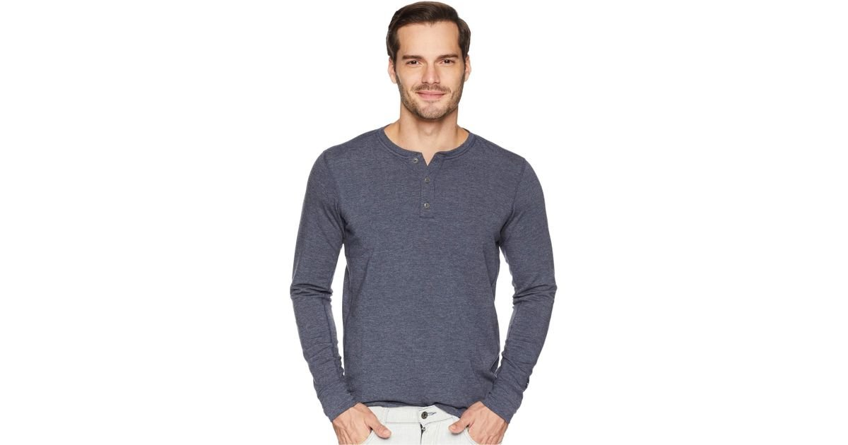 bf2aa1665 The North Face Blue Long Sleeve Tnf Terry Henley (tnf Medium Grey Heather)  Men's Long Sleeve Pullover for men