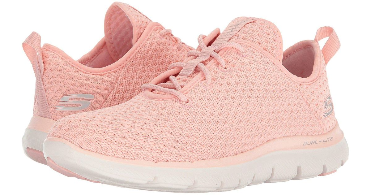 Peach Blossoms: SKECHERS Meridian Charted in WhiteNatural |