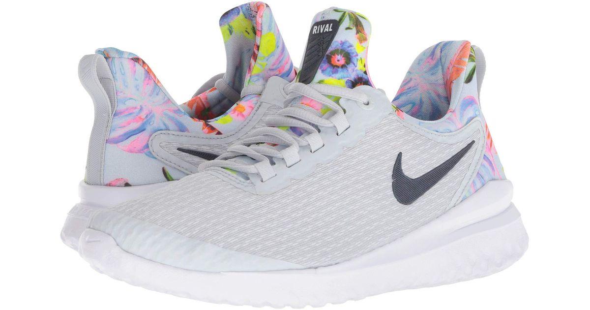 d2f6fb5a12 Nike Renew Rival Premium (pure Platinum/black/multicolor/white) Women's  Running Shoes